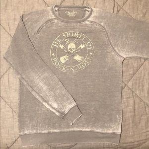 """Lucky Brand """"Fender"""" Rock N Roll Sweatshirt"""